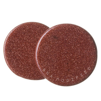 Copper Goldstone Stone Plugs (18mm-25mm)