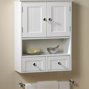 Country Lake Bathroom Wall Cabinet