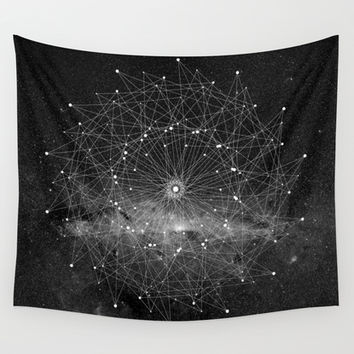 STARGAZING IS LIKE TIME TRAVEL Wall Tapestry by Amanda Mocci