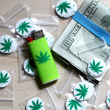 Marijuana 420 pot leaf sticker pack (10 stickers) clear vinyl herbal weed Mary Jane Rasta skunk dark dank