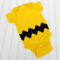 READY TO SHIP Onesuit Charlie Brown by LindaSumnerDesigns on Etsy