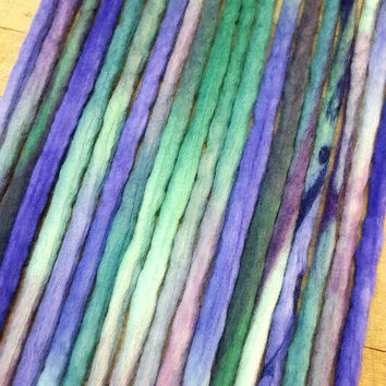Wool Dreadlocks Custom Wool Dreads Handmade Hippie Dreads Hair Extensions Wool Dreads Ombre Hair Accessories Set of 25