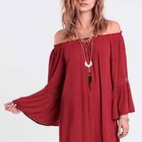 Deep Down Off-Shoulder Dress