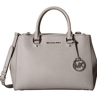MICHAEL Michael Kors Sutton Medium Satchel Pearl Grey - Zappos.com Free Shipping BOTH Ways