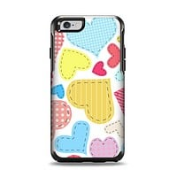 The Fun Colored Heart Patches Apple iPhone 6 Otterbox Symmetry Case Skin Set