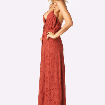 Flynn Skye | Malia Maxi Dress (Rust Embroidery)