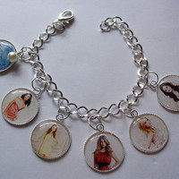 Pretty Little Liars Charm Bracelet with Swarovski Pearl for that added touch of class.