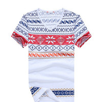 E-BAIHUI brand mens t shirts fashion printing Clothing Swag Men T-shirts Camiseta tops tees  Skate M