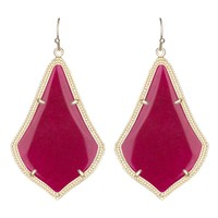Kendra Scott Alexandra Earrings in Maroon Jade