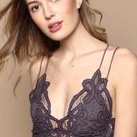 Free People Adella Bralette - Charcoal