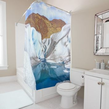 Alaska Glacier Wild Natur Shower Curtain