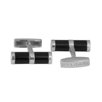 Bulgari Black Onyx Cufflinks