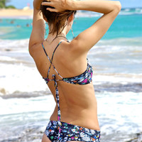 Punalu'u Criss Cross Halter Bikini Top - Create Your Own