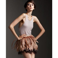 Couture Feather Mini Short Skirt 35cm Length by austineshu