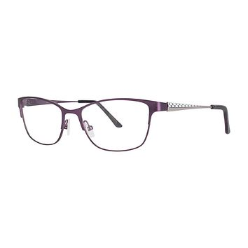 Dana Buchman - Whytney 55mm Eggplant Eyeglasses / Demo Lenses
