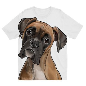 Boxer Dog Designs by Amitie Kids Sublimation TShirt
