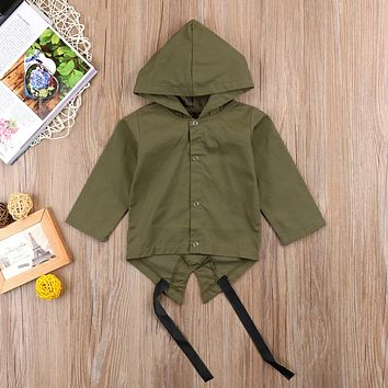 Stock Fashion Baby Kids Long Sleeve Hooded Coat Letter Boys Toddler Coat Outerwear Jacket 0-24M
