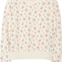Current/Elliott - The Shrunken Jogger floral-print cotton sweatshirt
