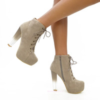 Java Chip Taupe Soft Ombre Platform Heels-OUT OF BOX