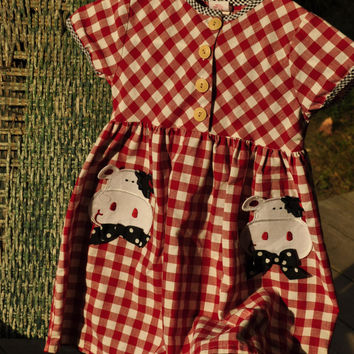 Vintage Childs Buster Brown Dress