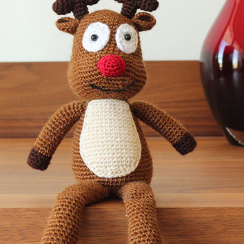 PATTERN: Rooney Reindeer Amigurumi Crochet Pattern Christmas  Xmas ornament