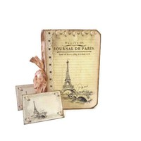 Paris Bridal Shower Guest Book - French Cottage Chic Guestbook