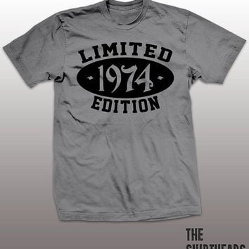 Limited Edition 1974 T-shirt - customize, logo here, men, women, gift, cool tees, funny, established