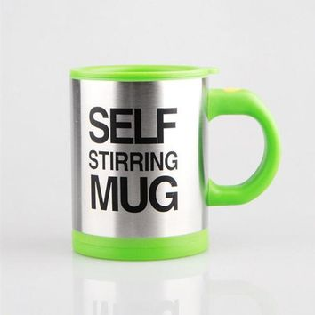 Self Stirring Coffee Mug, Double insulated design Stainless Steel Mug