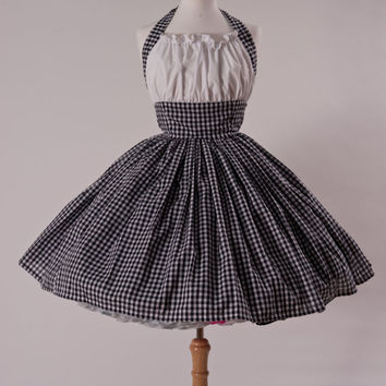Gingham Retro Halter Dress | Custom Made