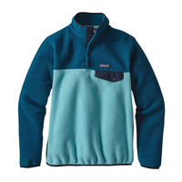 Patagonia Women's Lightweight Snap-T Fleece Pullover Cuban Blue