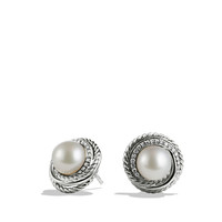 Pearl Crossover Earrings with Diamonds - David Yurman