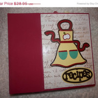 SALE 6x6 Recipe Scrapbook Album