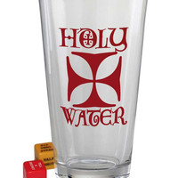 Trixie and Milo Holy Water Pint Glass