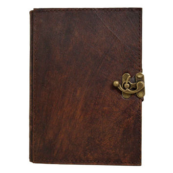 Plain Brown Refillable Leather Journal / Notebook / Diary / Sketchbook