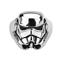 Star Wars Stormtrooper Stainless Steel Ring - Men (Black)