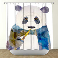 DiaNoche Designs Panda by Marley Ungaro Fabric Shower Curtain
