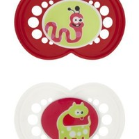 Mam Monsters Orthodontic Silicone Pacifiers- Asst Colors