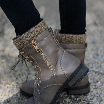 Zip It Boot - Taupe - Kids