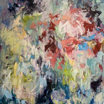 """""""Bouquet for You"""" by Britt Bair, Acrylic and Mixed Media on Canvas"""