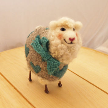 Lambies in Jammies needlefelted Sheep #130