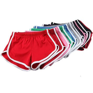 Candy Color Retro Yoga Shorts