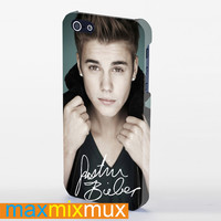 Justin Bieber With Signature iPhone 4/4S, 5/5S, 5C Series Full Wrap Case