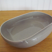 Russel Wright Vegetable Bowl American Modern Granite Grey