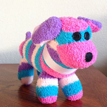 Handcrafted Fuzzy Sock Wiener Dog