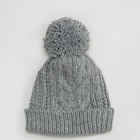 Warehouse Cable Knit Beanie Hat at asos.com