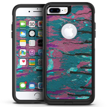Abstract Retro Pink Wet Paint - iPhone 7 or 7 Plus Commuter Case Skin Kit