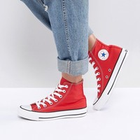 Converse Chuck Taylor High Trainers In Red at asos.com