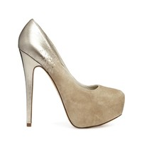 ALDO Two Tone Nude Platform Heeled Shoes - Bone