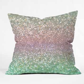 Lisa Argyropoulos Sea Mist Shimmer Throw Pillow