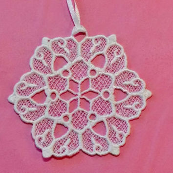 Freestanding Lace Christmas Ornament, White Snowflake, Handmade Decoration, Handmade Holiday Ornament, Bookmark, Lace Suncatcher, EK CIJ